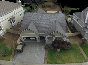 Residential Scene Forensic 3D Model captured by Drone